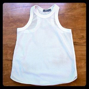 Adidas by Stella McCartney white mesh top